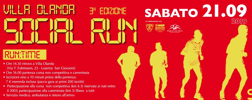 Al via la terza edizione della Villa Olanda Social Run