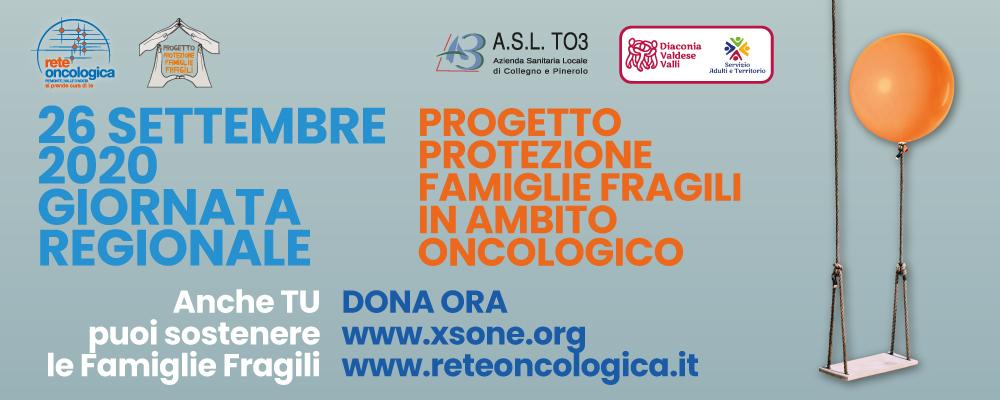 26 SETTEMBRE 2020  2° Giornata Regionale del Progetto Protezione Famiglie Fragili  in Ambito Oncologico